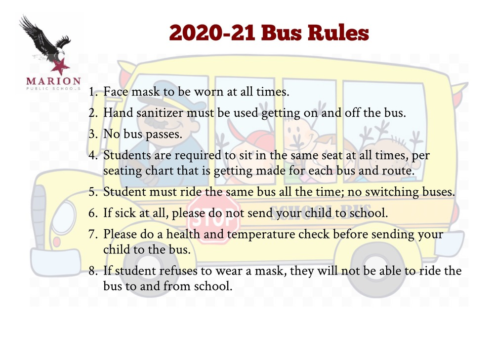 2020-21 Bus Rules