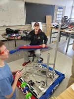 Marion Eagle Engineers Making their Robot
